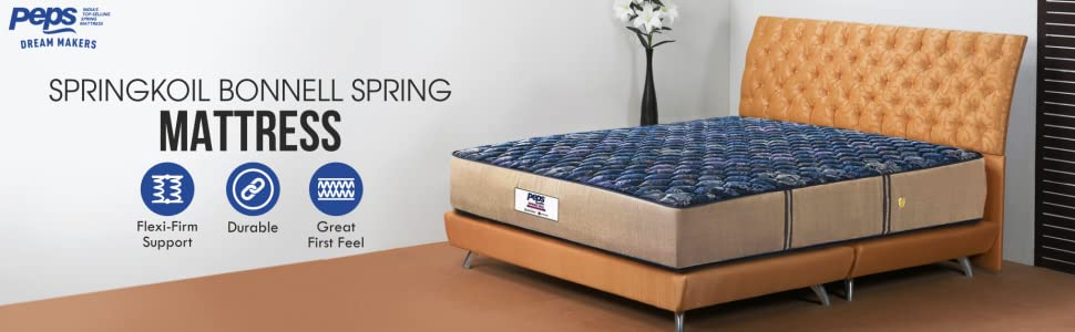 Peps Springkoil Bonnell Spring Mattress - Complete Image