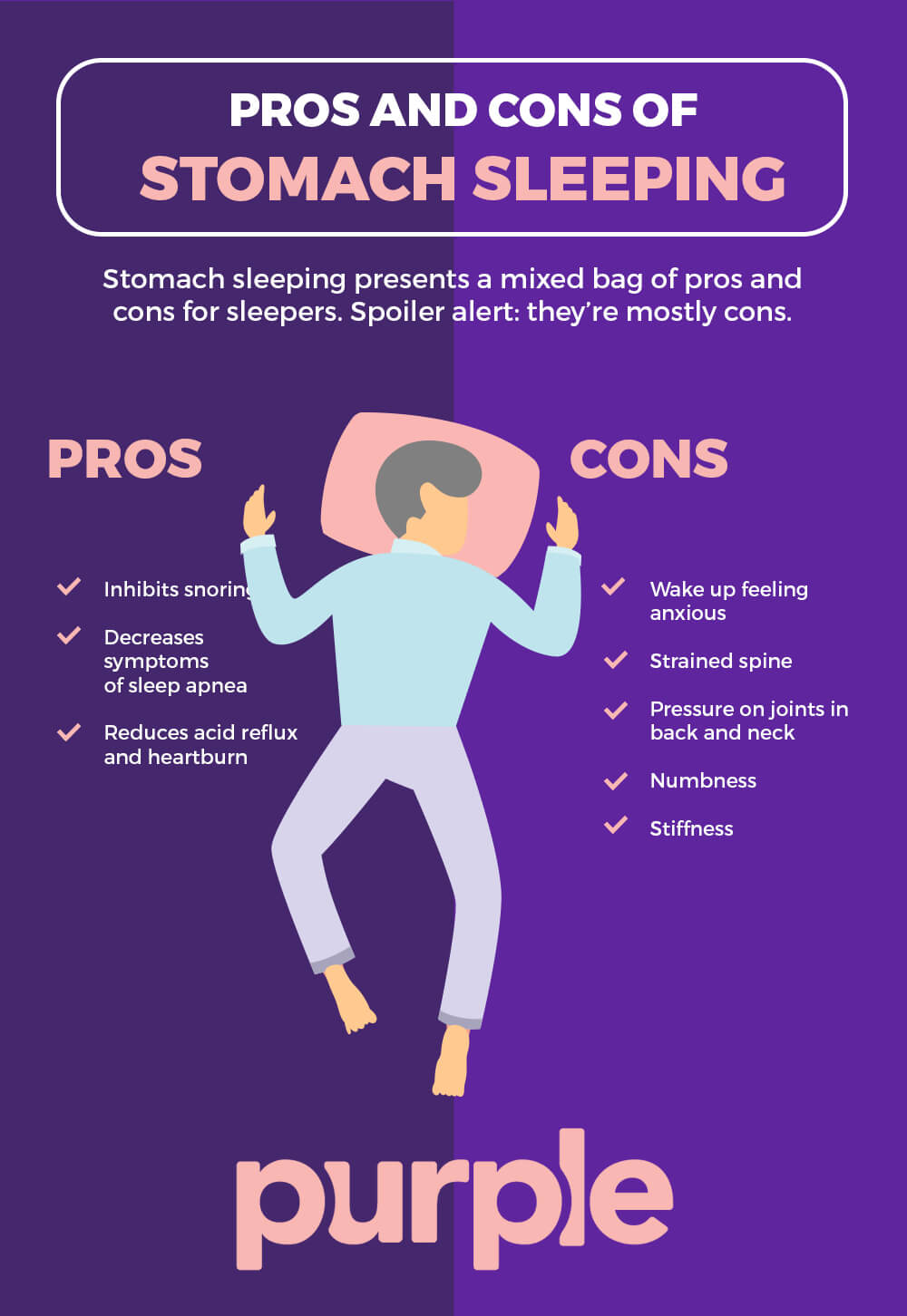 Pros and Cons of Stomach Sleeping