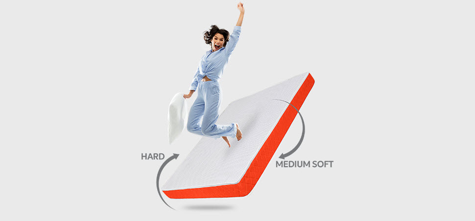 SleepX Dual mattress - Medium Soft and Hard - Dual Side